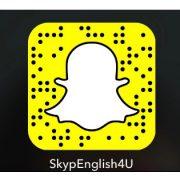 English on Snapchat