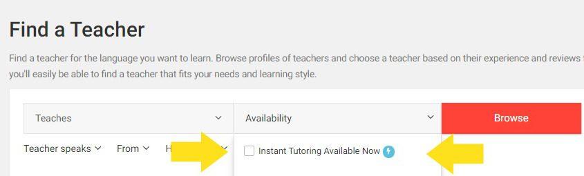 italki instant tutoring