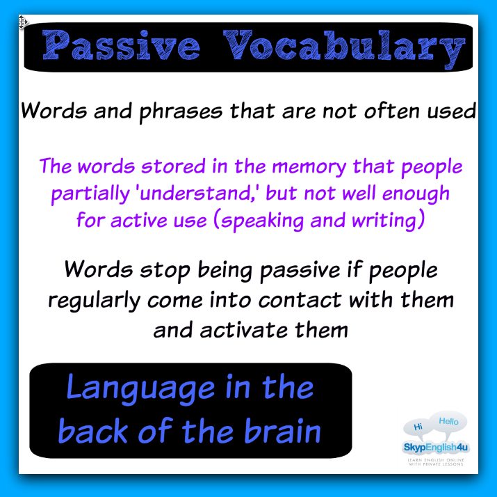passive vocabulary